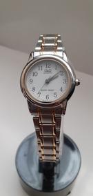 diseño atemporal 8cc4c 79644 Reloj Q&q Dama Acero Inoxidable