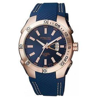 reloj q&q db24j542y de hombre silicona azul
