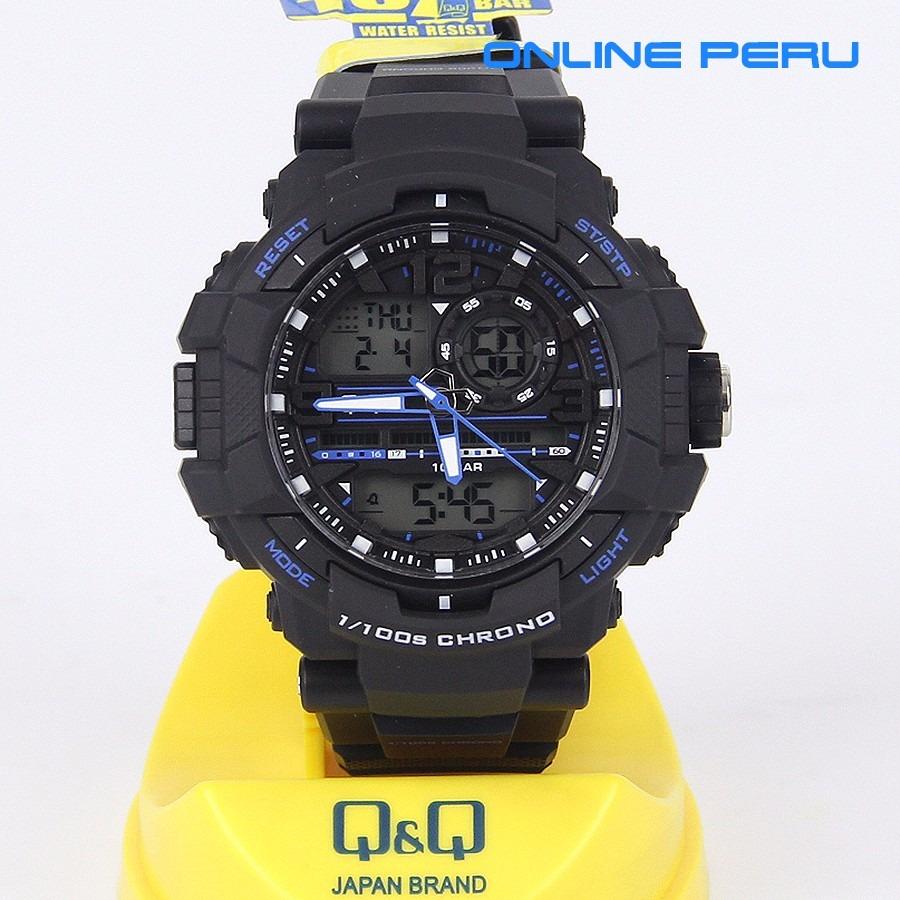 Reloj Q Amp Q Deportivo Digital Analogico Tipo G Shock Ndph