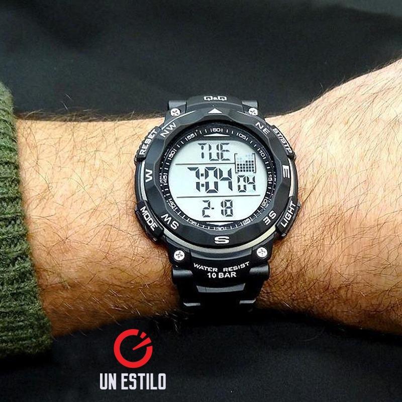 707a45abf32a reloj q q hombre deportivo acuatico digital negro casual q q. Cargando zoom.