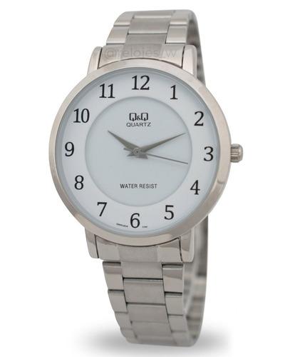 reloj q&q hombre q944j204y plateado blanco