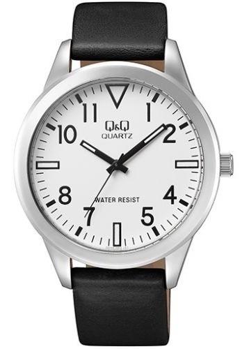 reloj q&q hombre qa52j304y negro plateado