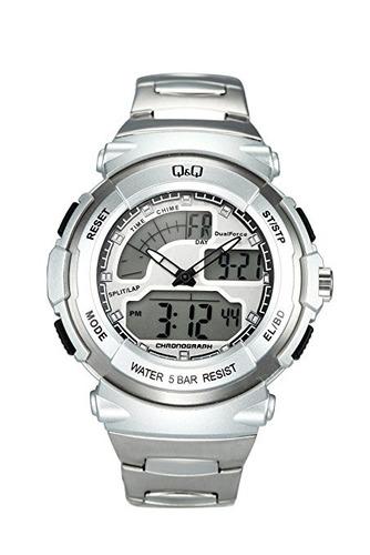 reloj q&q m012j201y plateado