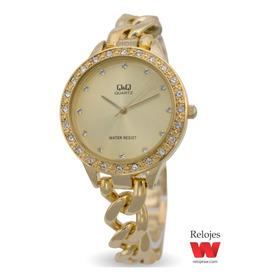 Reloj Q&q Mujer F549j010y Dorado