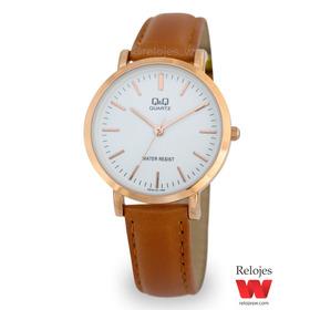 Reloj Q&q Mujer Q979j101y Marrón Oro Rosa