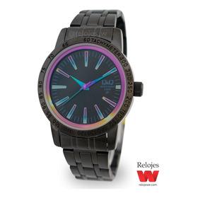 Reloj Q&q Mujer Qz20j801y Negro