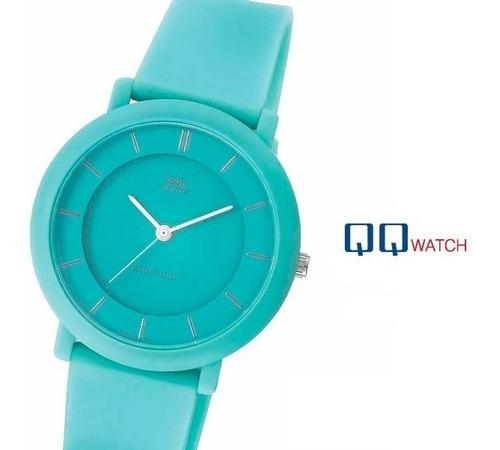 reloj q&q original acuático turquesa sin números 37mm