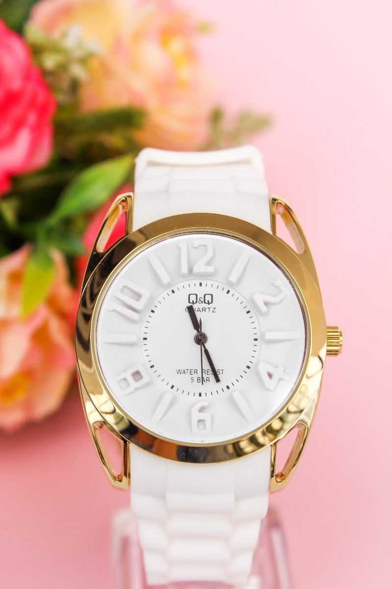 53c4004d6990 reloj q q qyq original deportivo dama blanco resistente. Cargando zoom.