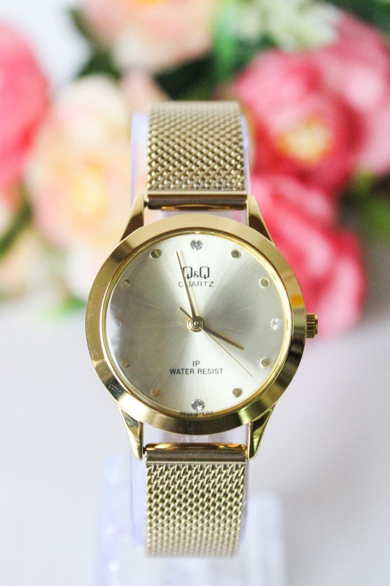 ad251f07bd0e Reloj Q q Qyq Original Mujer Acero Dorado + Envío Gratis -   89.900 ...