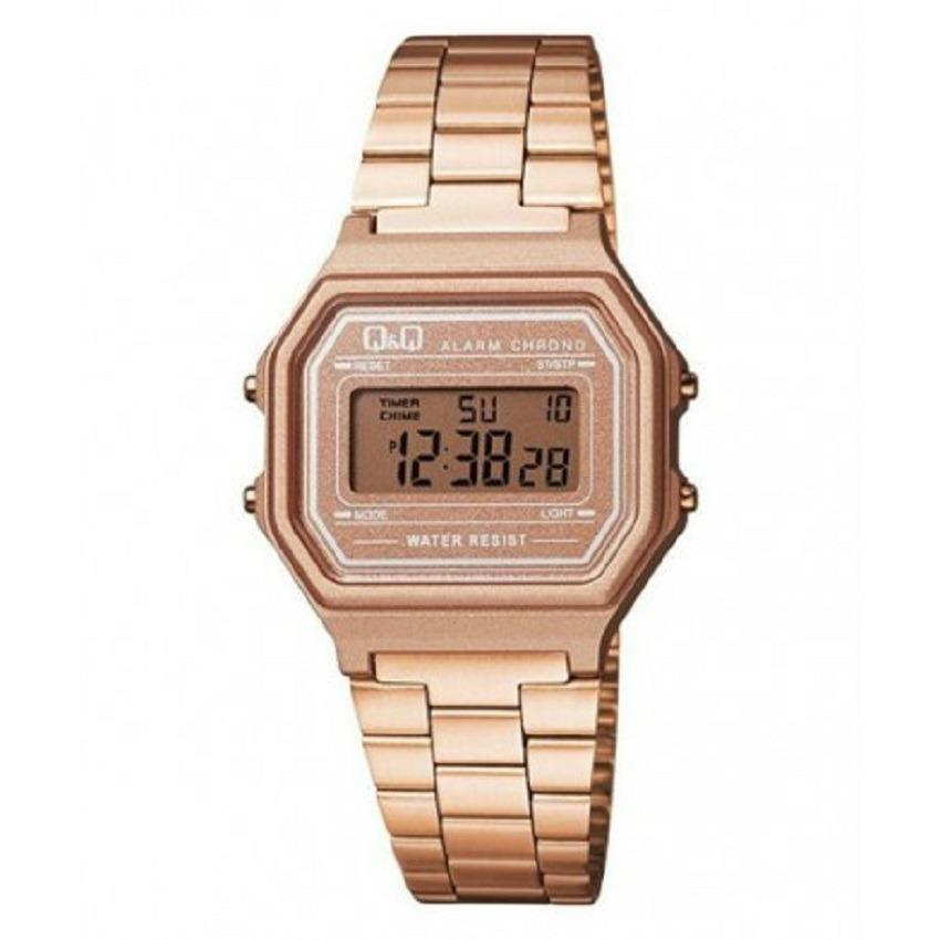 fe64a6234425 Reloj Q q Retro M173j006y Digital Oro Rosa Para Mujer -   89.900 en ...