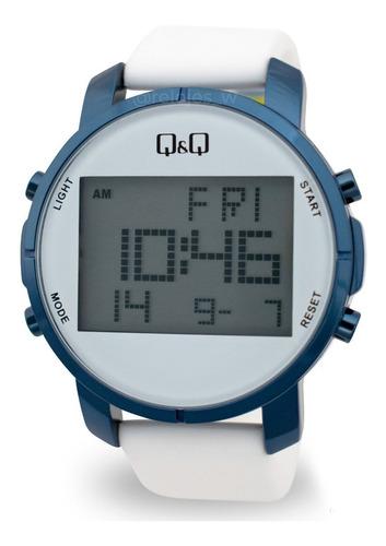 reloj q&q unisex m160j806y blanco azul