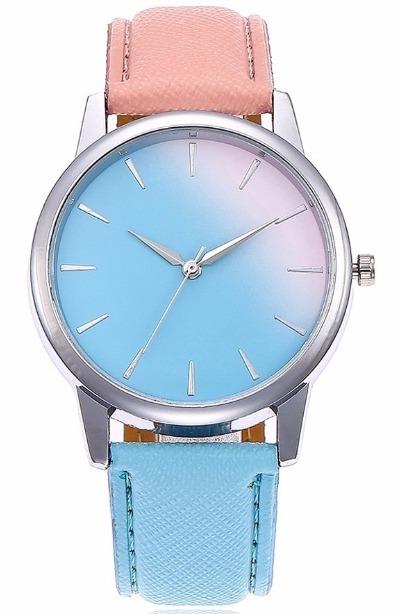 Reloj Quartz Geneva Dama 2221pinkblue Correa  watchsalas  -   299.00 ... 1f3acac92d1e