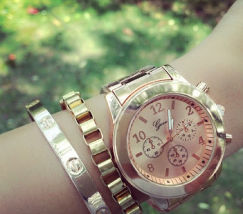reloj  quarzo mujer geneva  varios colores