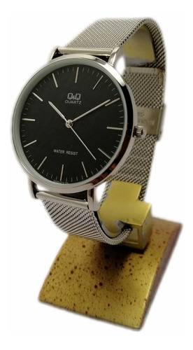 reloj qyq hombre malla negro pavonado + envío gratis