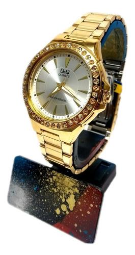 reloj qyq mujer dorado q987j001y + envío gratis
