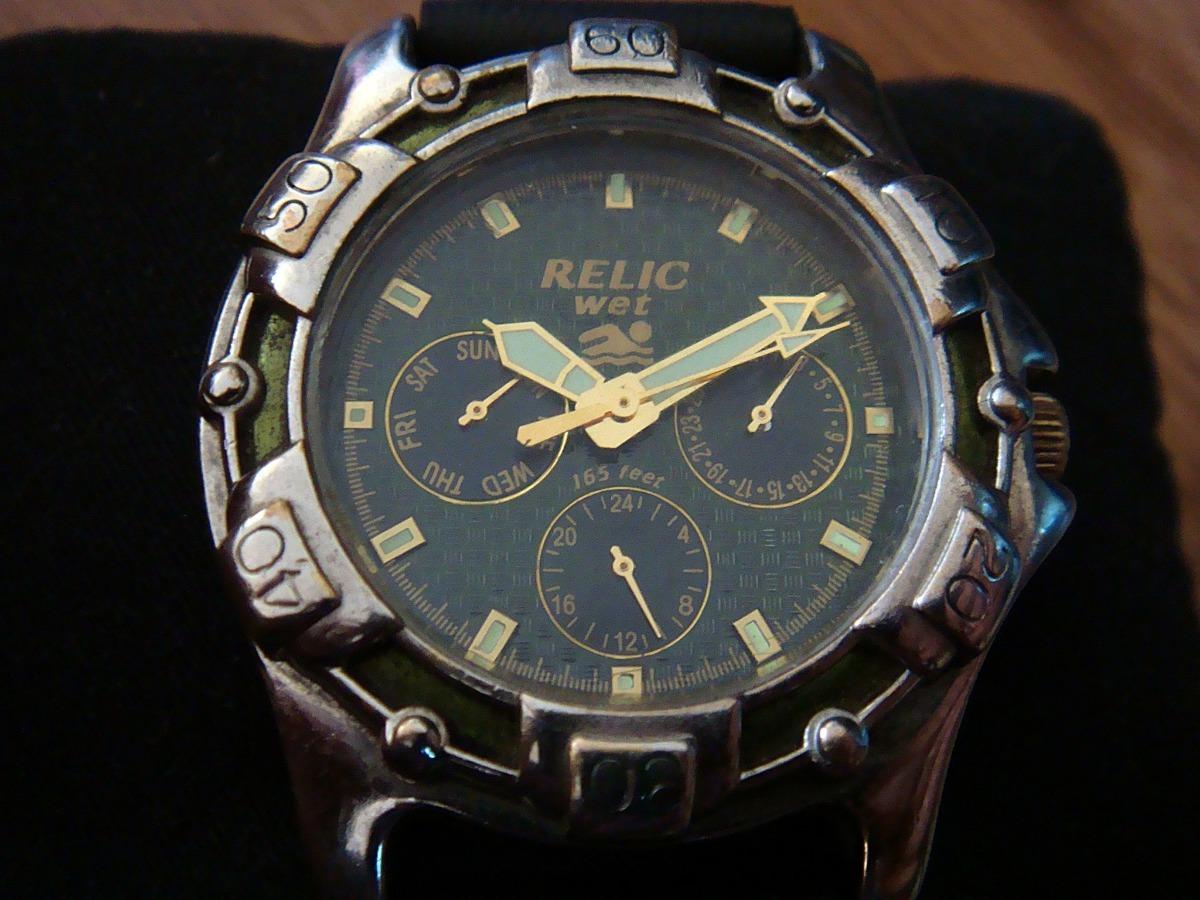 41729ae282ed Reloj Relic Wet By Fossil Zr-15280. Dial Verde. -   799.00 en ...