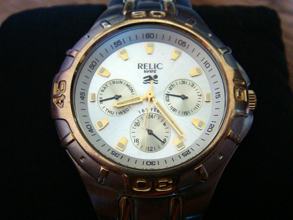 1aae85028d46 Reloj Relic Wet By Fossil Zr-15385. Bitono. -   899.00 en Mercado Libre