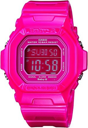 reloj reloj digital rosa bg dr baby-g square color luminoso