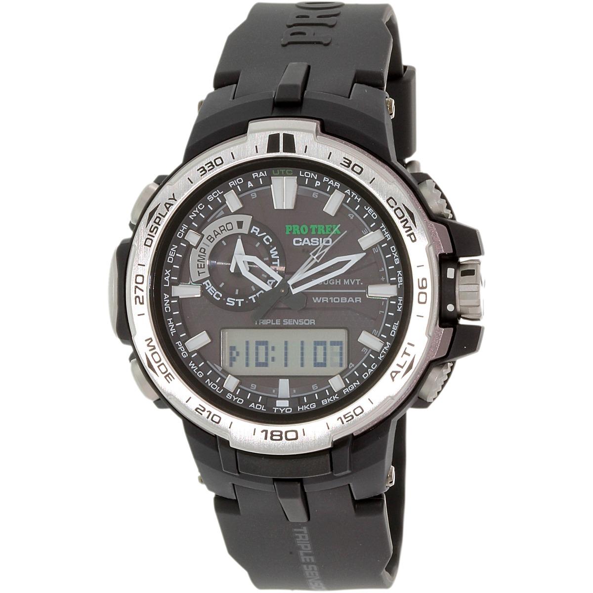 09a130fb64f2 reloj resina de de cuarzo pro trek prw6000-1 negro casio h. Cargando zoom.