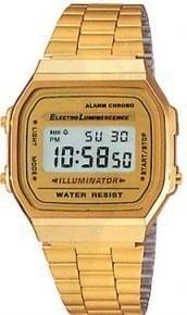 reloj retro a158 moda vintage plata dorado liquidacion