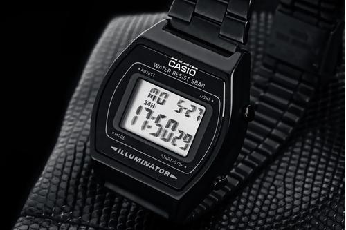 reloj retro b640w dama new todo negro clasico envio gratis