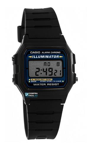 reloj retro casio f105 - luz azul - cfmx