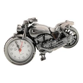 Reloj Retro De La Motocicleta Escultura Moto Modelo Art