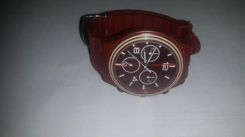 reloj  rojo para caballero incluye pila. envio gratis