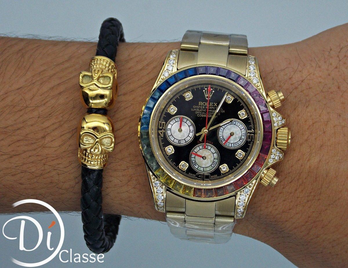 279c688c00c Reloj Role Daytona Arcoiris En Oro King -   4