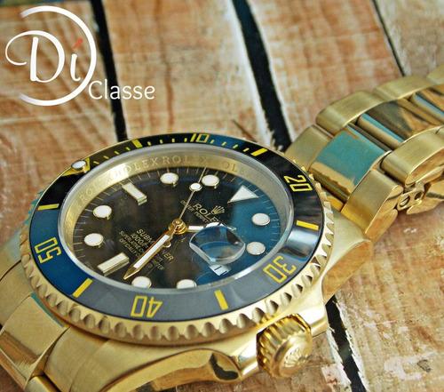 reloj role submariner dorado/negro