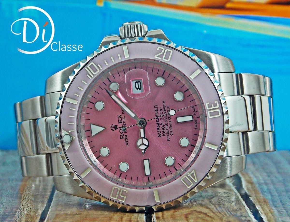 3960783b5ae Reloj Role Submariner Rosa + Envio Gratis -   3