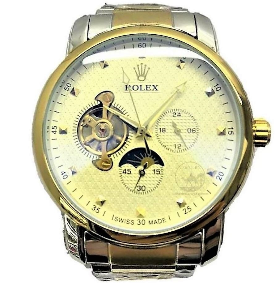 91cf11ea4e2 reloj rolex automático cellini hombre dorado corazon abierto. Cargando zoom.