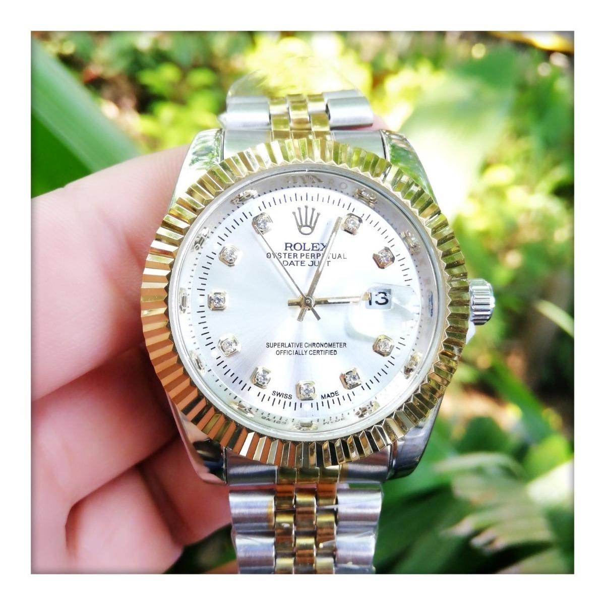 Bicolor Diamantes Con Unisex Reloj Rolex RjL54A