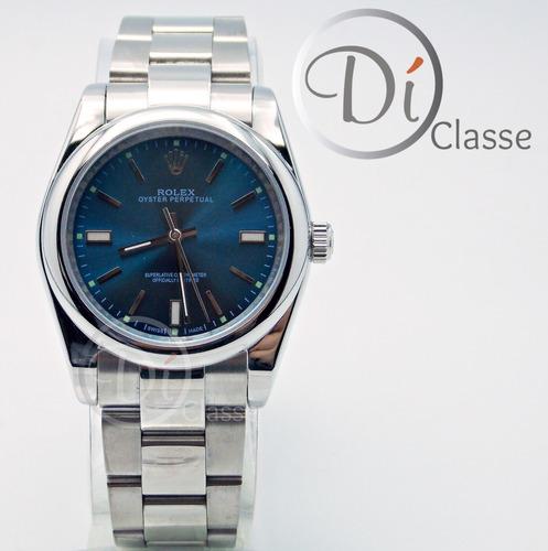 reloj rolex date just acero /azul cristal zafiro