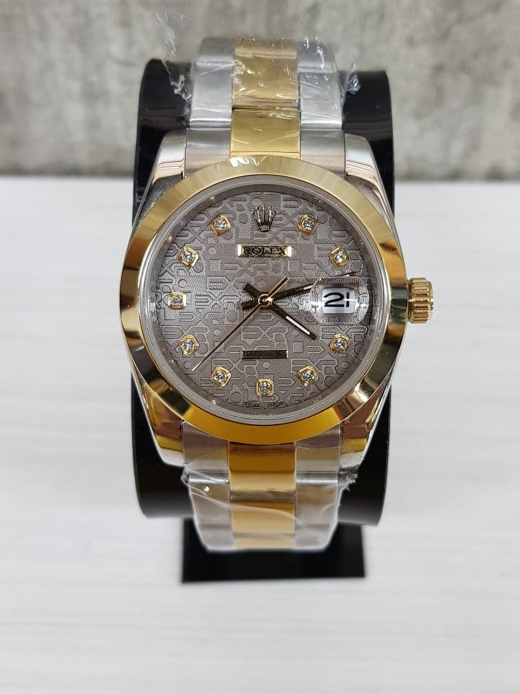 565c63c803e0 reloj rolex datejust acero oro 40mm grabado (fotos reales). Cargando zoom.