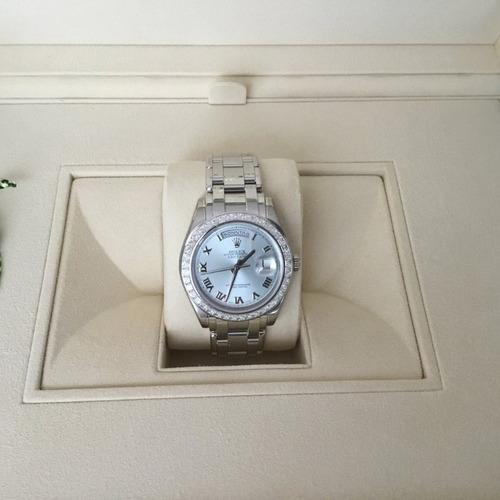 reloj rolex day-date  edition platin oyster 42 diamanten