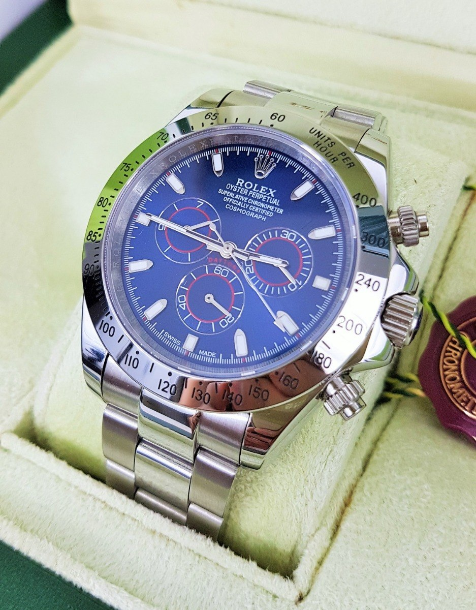 eb7094aacb4 Reloj Rolex Daytona Acero Esfera Azul Rey Automatico -   3
