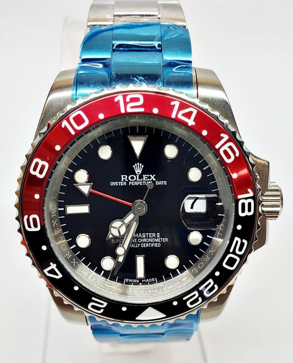 Rojonegro Gmt Coca Reloj Automatico Master Color Rolex EDI29H