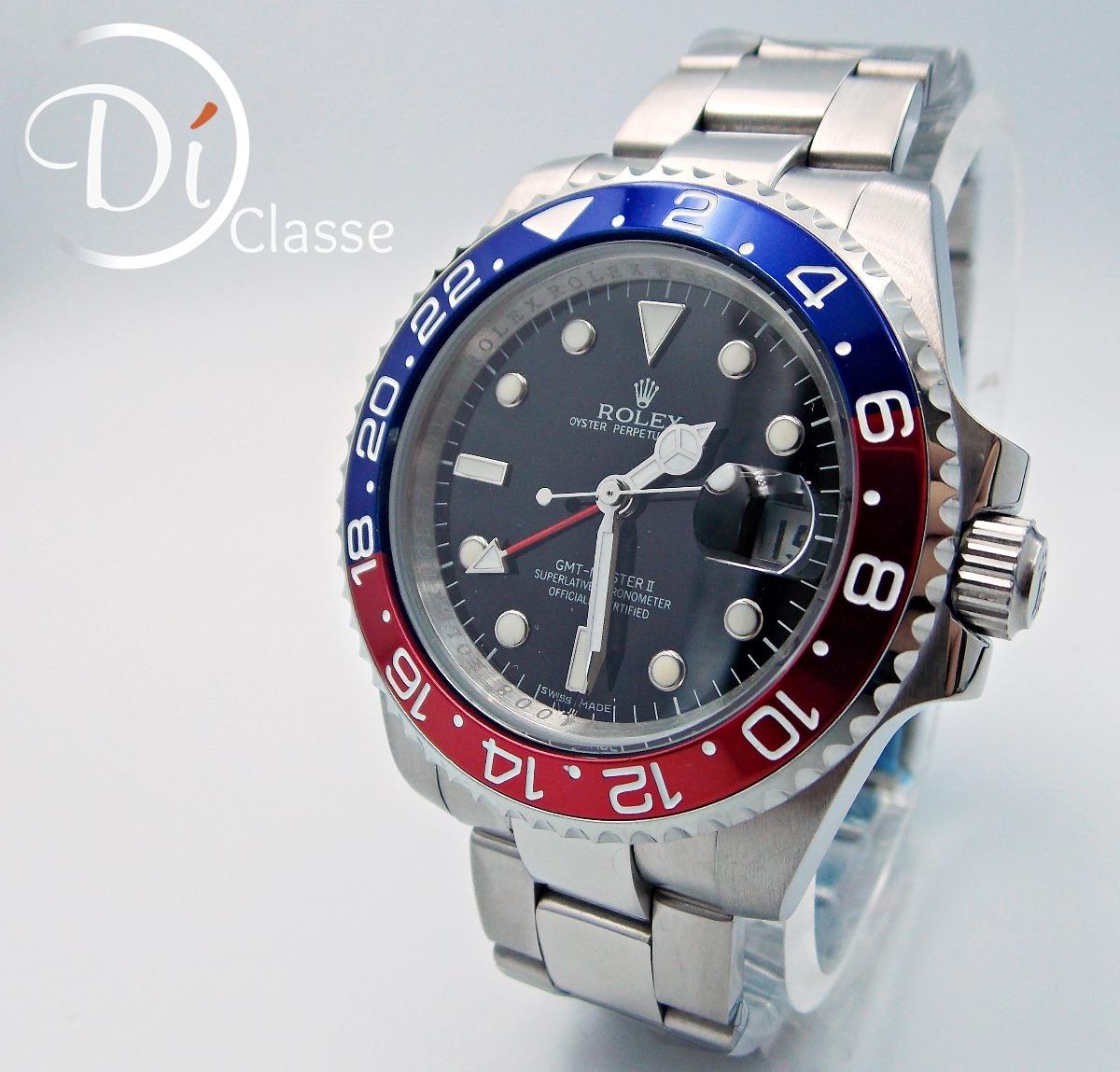 bb013c61872 Reloj Rolex Gmt Master Pepsico Cristal Mineral -   3