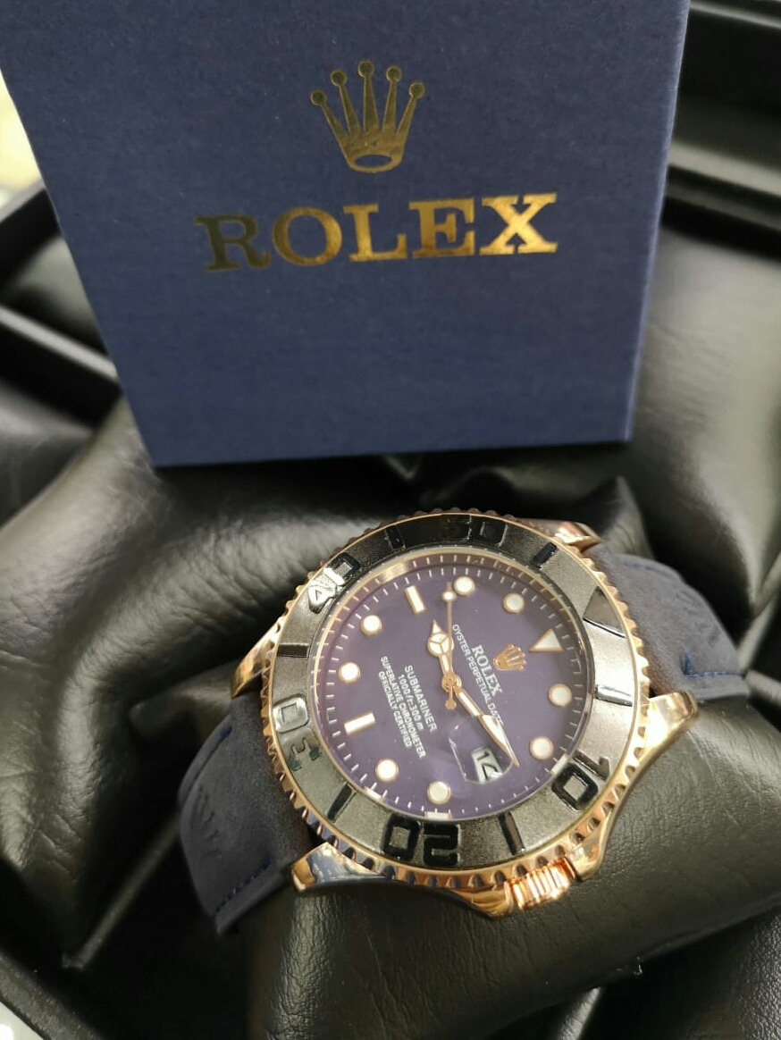 64513c406cbf Reloj Rolex Hombre Cuero Elegante Calendario Calidad -   80.000 en ...