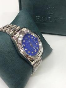 e8ba15c5d39a Reloj Rolex Mujer Clasico Con Calendario Y Pulso En Acero Nu