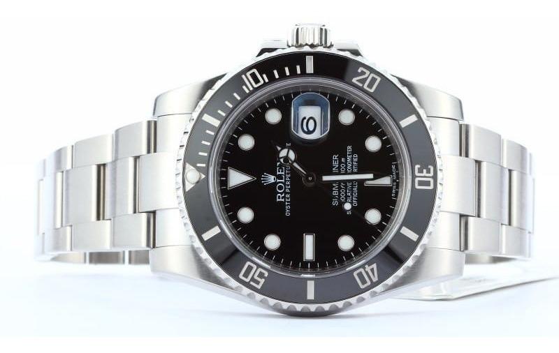 Dateesfera Plateado Rolex Negra Reloj Submariner kXOPZiu