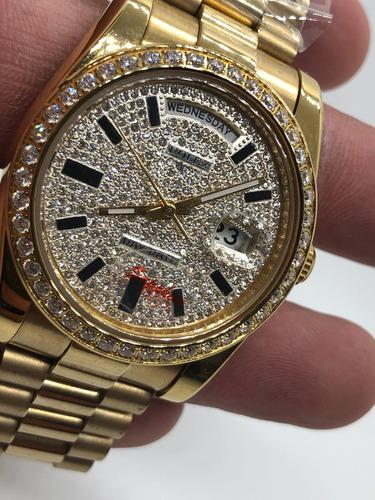 Reloj Rolex Presidente Lluvia De Diamantes 38mm - $ 4,999