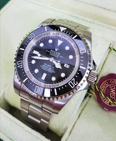 Esfera Con Deepsea Negra Rolex Sea Acero Reloj Dweller Caja y8nwN0Ovm