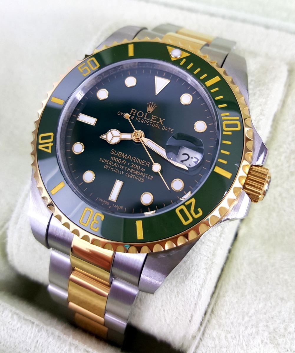 d45812fb1fc reloj rolex submariner acero oro esfera verde automatico. Cargando zoom.