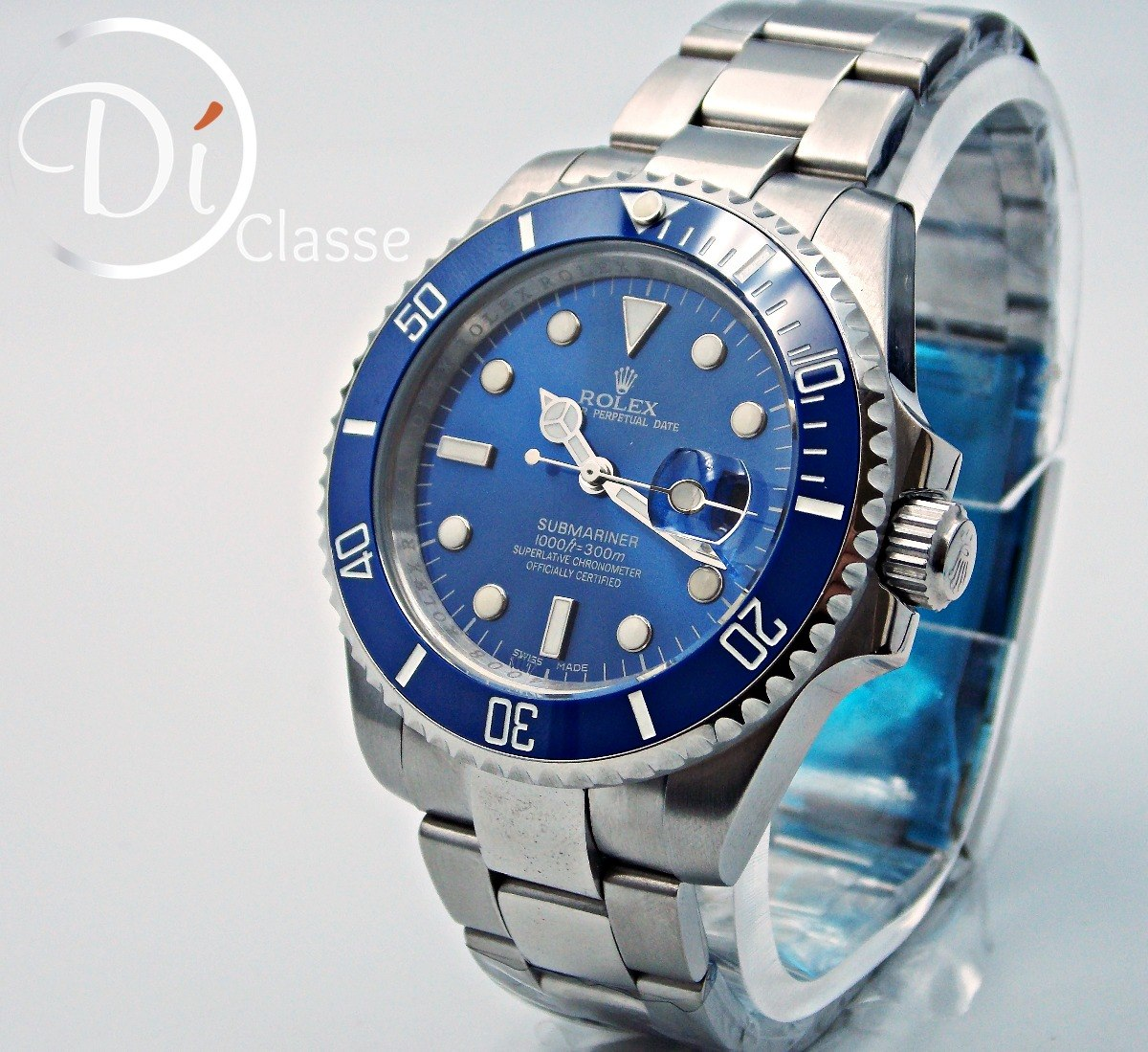 8ef37e4713e reloj rolex submariner azul cristal mineral. Cargando zoom.