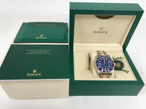a6d679bfbcda Reloj Rolex 18k Y g Diamond Sapphire Gmt Master Ii Nos B P - Reloj ...