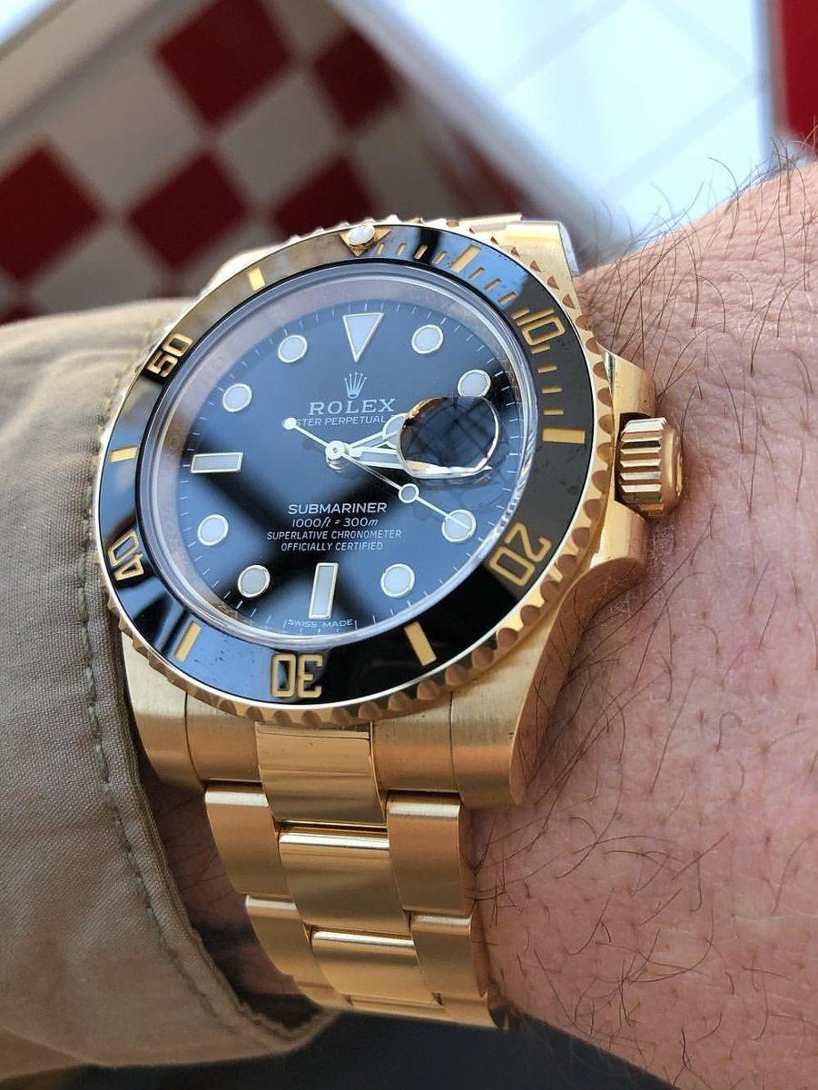 DoradoAlta Reloj Calidad Garantizada Rolex Submariner EHIWD9Ye2