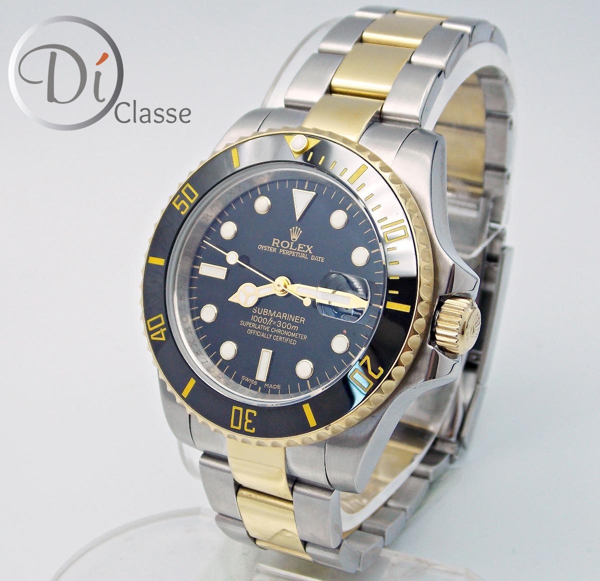 3806f064c65 reloj rolex submariner negro acero oro king combinado. Cargando zoom.
