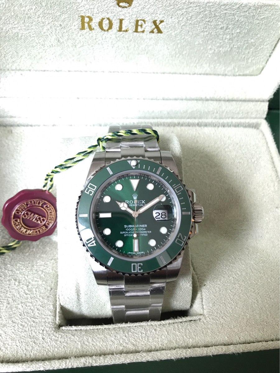1b599649468 reloj rolex submariner suizo hulk 116610lv eta 3135. Cargando zoom.